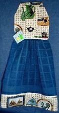 **NEW** Hello Kitty Tea Time Bow Bouquet Black Kitchen Fridge Hand Towel #1125