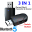 thumbnail 1 - USB-Wireless-Bluetooth-5-0-Transmitter-amp-Receiver-Adapter-3-5MM-AUX-Audio-Music
