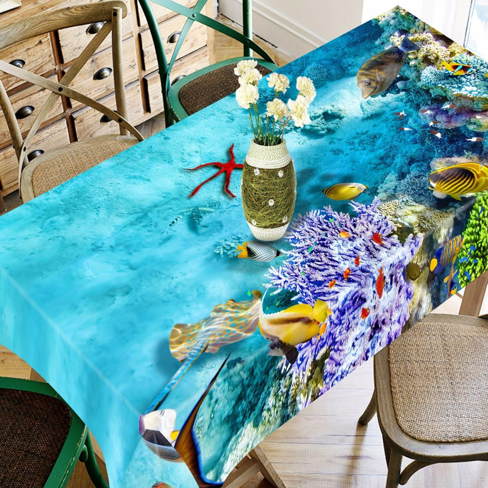3D Sea 4979 Tablecloth Table Cover Cloth Birthday Party Event AJ WALLPAPER AU