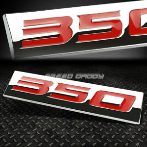 METAL GRILL TRUNK BODY EMBLEM LOGO TRIM BADGE POLISHED SILVER TEXT LETTERING A