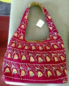 Beaded Purse Fl Embroidery Corduroy