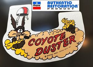 1969-1970-Plymouth-Road-Runner-Coyote-Duster-Air-Cleaner-Decal-69-70-Mopar-New