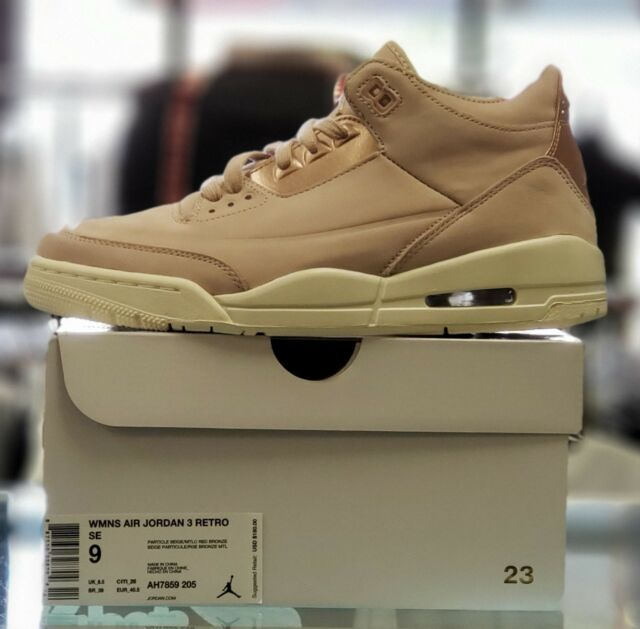 8fee315bd9c Women's Size 9 Air Jordan 3 Retro SE Particle Beige Ah7859 205 for ...