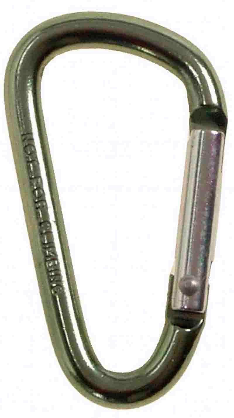 Karabinerhaken Metall D Form Tarn Oliv Befestigung Schnapphaken Karabiner Haken