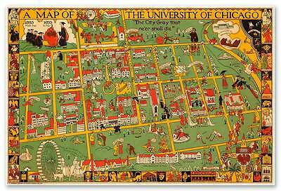 University Of Chicago Campus Map University of Chicago Campus Map circa 1932   24