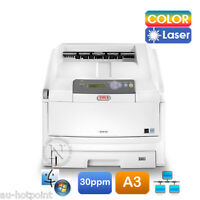 Oki C810/c810n A3 Color Laser Banner Printer 32ppm/128mb P/n:44072906 Ex-demo