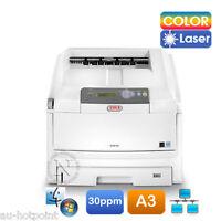 Oki C810/c810n A3 Color Laser Banner Printer 32ppm/128mb P/n:44072906 Ex-demo