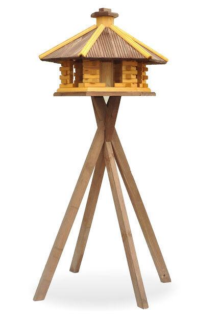 Hervorragend S1 KDW4 Ständer mit HOLZ aus VOGELHAUS Vogelhäuser Online Qualität DM97