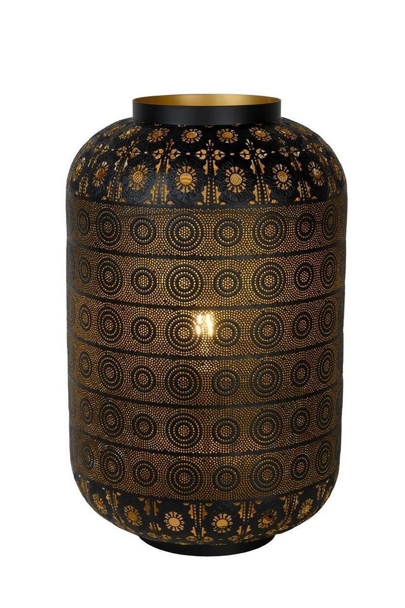 Orientalische Tischleuchte Tahar schwarz Ø39cm Höhe 64cm E27