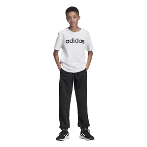 adidas Core Kinder Trainingshose Youth Boys Essentials Linear Pants schwarz