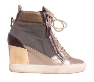 f16c1dbe943 Image is loading GIUSEPPE-ZANOTTI-Wedge-Sneakers-SIZE-39