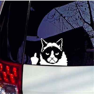 Funny Grumpy Cat For Auto Car//Bumper//Window Vinyl Decal Waterproof Sticker Decor