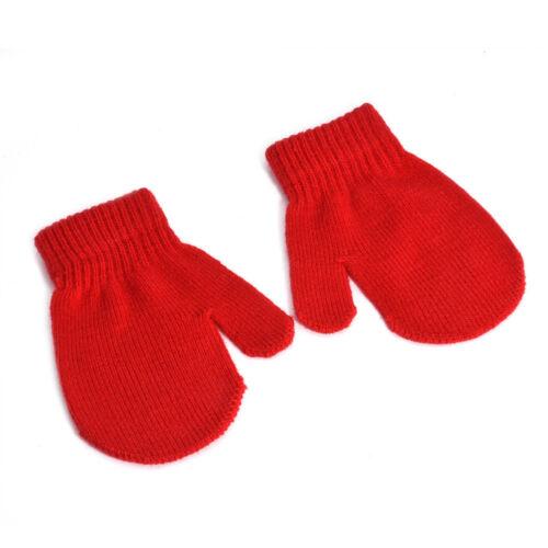 Winter Gloves Toddler Kids Baby Boy Girl Cute Soft Knitting Mittens Warm Gloves