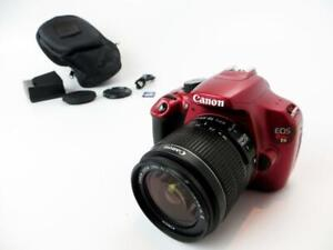 Details About Canon Eos Rebel T5 Dslr Camera With 18 55 Is Ii Lens Red