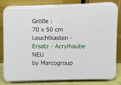 Ersatz Acrylhaube 70x50 cm für Leuchtkasten Leuchtreklame Nasenschild 2 mm NEU
