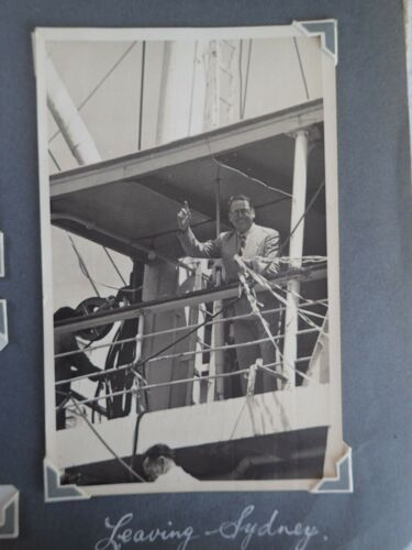 Aboard The SS LAKEMBA Photo Leaving Sydney January the 13th 1954