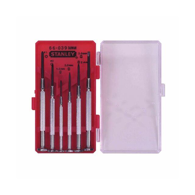 Stanley 1-66-039 Precision Screwdriver Set (6 Pieces) Multi-colour
