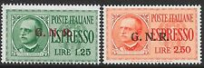 Italy/Social Republic stamps 1944 Sassone 19-20II GNR Ovpts  MNH  VF