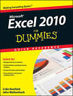 Excel 2010 For Dummies Quick Reference by Colin Banfield, John Walkenbach (Paperback, 2010)