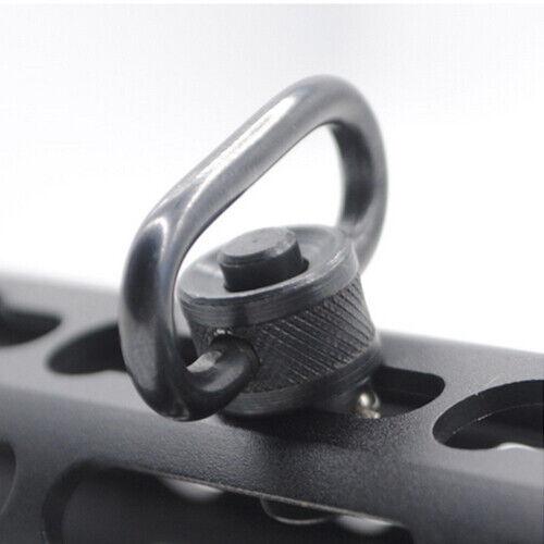 Hunting 1/'/' Inch Quick Detach Sling Swivel Heavy Duty Push Button Mount Adapter