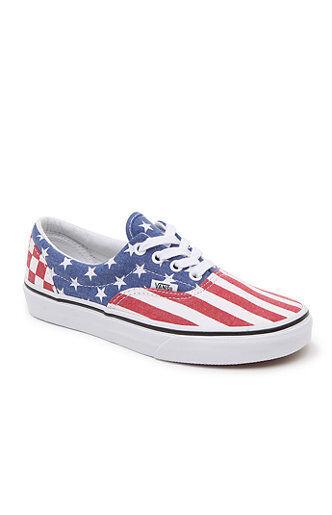 Vans ERA Stars & & & Stripes Mens shoes (NEW) America USA FLAG Americana SIZES 9 9.5 cba140