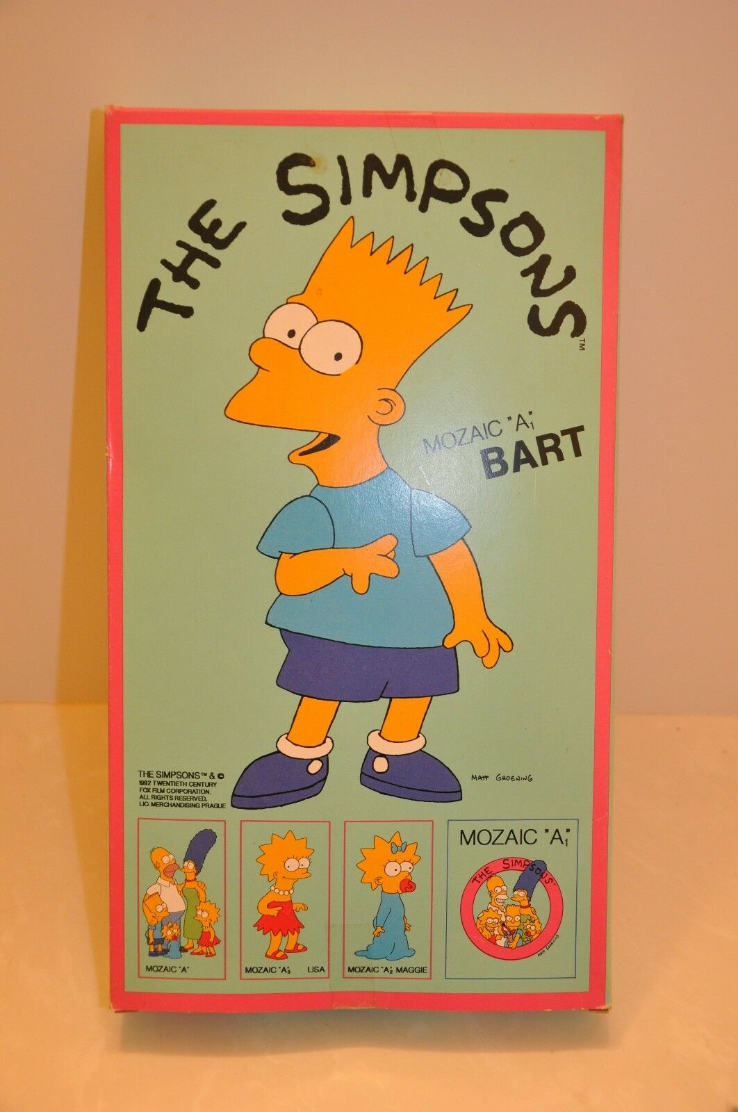 RARE The SIMPSONS CZECH MADE  MOSAIC TILE CRAFT SET , UNOPENED 1992