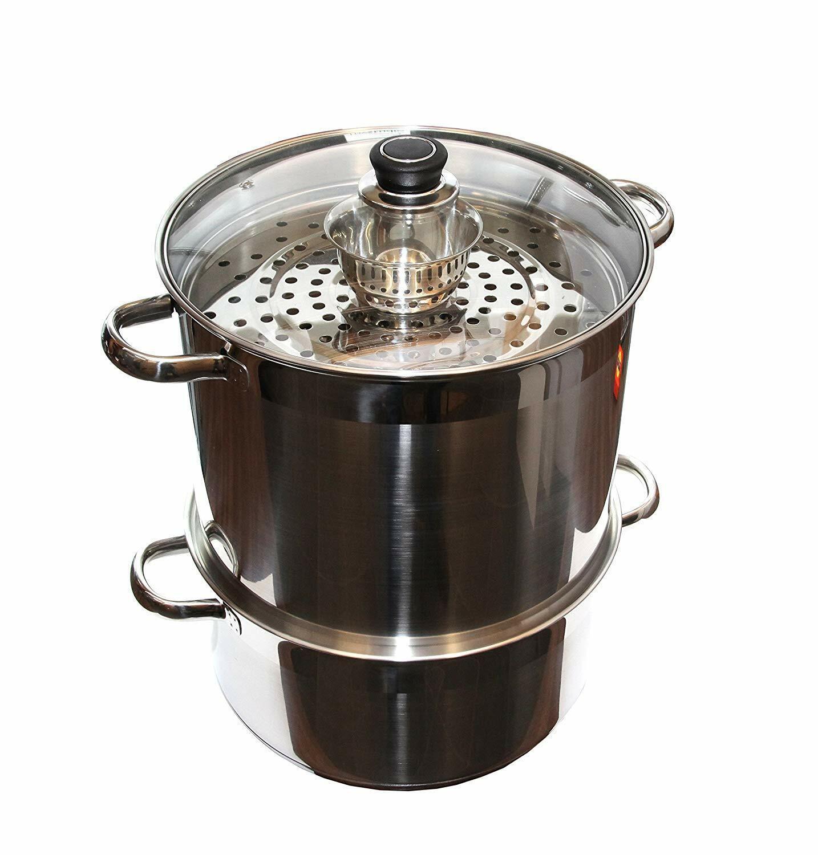 Ouzbek 5 niveau 20 QT 18 10 Acier Inoxydable Cuiseur Vapeur Chauffe-cuisinière Mantovarka Manti