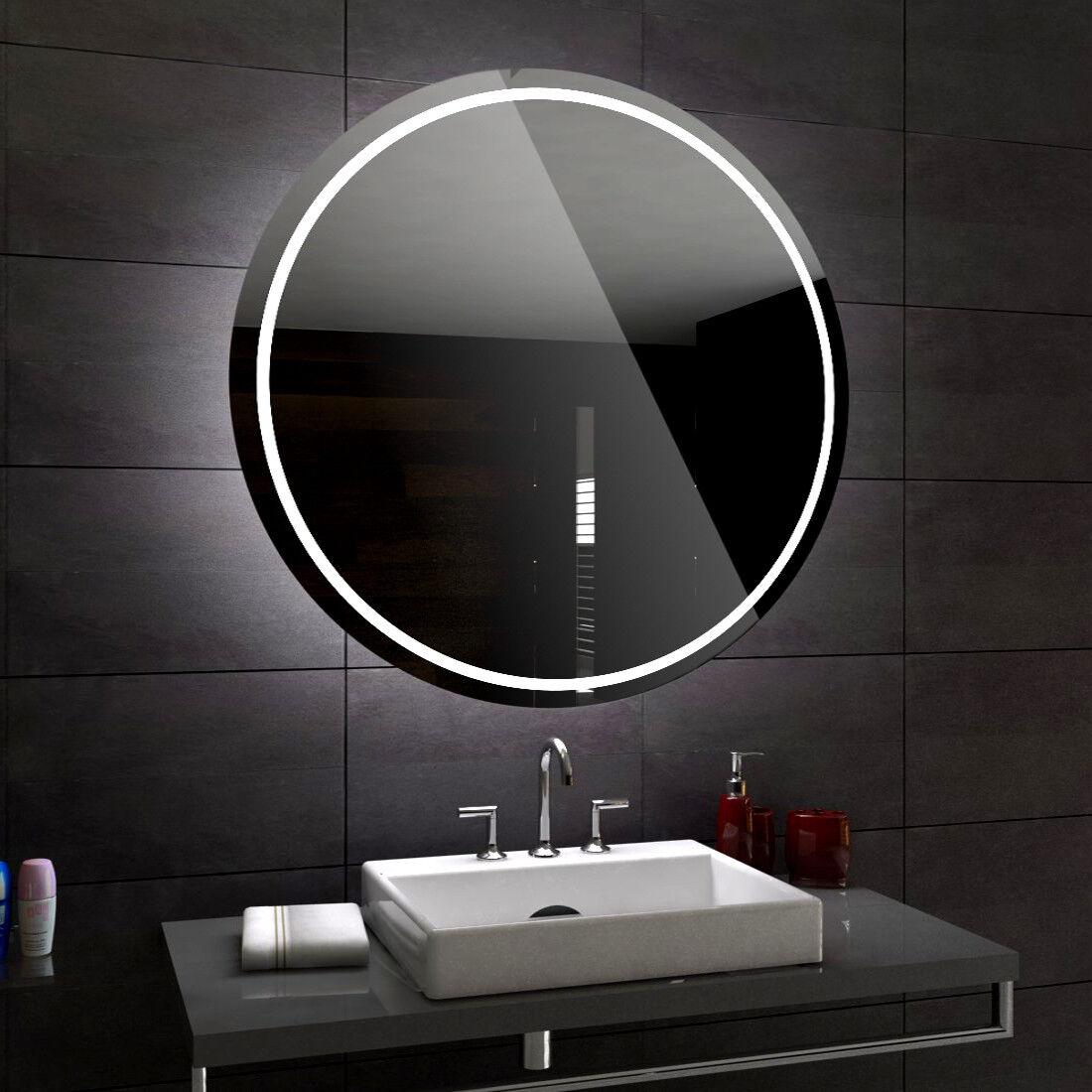 Londres rond lumineux DEL Miroir de salle de bain taille personnalisée variantes   pour mesurer