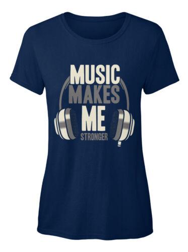 Music Makes Me Stronger Standard Women/'s T-Shirt