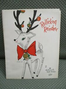 Hallmark-Christmas-2-gift-trims-11-3-4-034-amp-9-034-Rollicking-Reindeer-034
