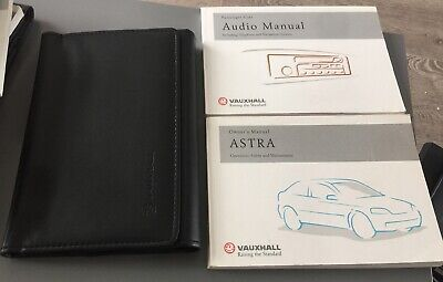 VAUXHALL ASTRA G OWNERS MANUAL HANDBOOK WALLET 1998-2005 PACK F-502