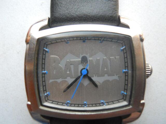 Fossil BATMAN blk leather,quartz,battery & water resistant Analog watch.Li-2501