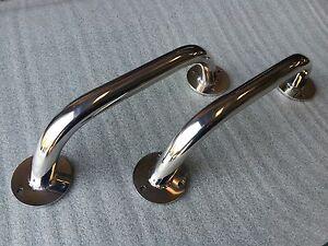 Pair of Oval Handrail//Grab Rail// Handle 600mm 316 Stainless Steel Marine