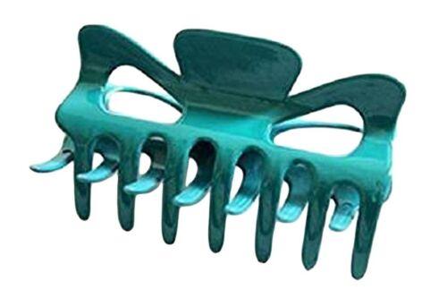 A Pretty Turquoise Hair Claw Clamp Clip Unique Bull Dog Design Unique Curved