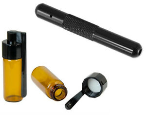 headnmore-Set-R5-Dispenser-Brown-with-Spoon-51mm-Aluminium-Pipe-70mm-Black