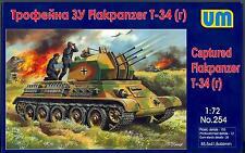 UM-MT Models 1/72 CAPTURED T-34(r) FLAKPANZER Anti-Aircraft Tank