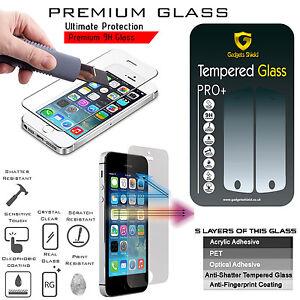 Verre-Trempe-Protege-Ecran-100-Authentique-Gadget-Shield-IPHONE-Se-5S-5C