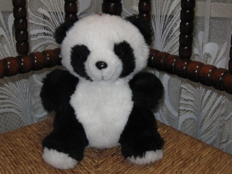 Vintage Dutch 9 Inch Panda Bear Plush Plastic Nose