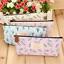 Fashion-Flower-Floral-Pencil-Pen-Case-Bag-Cosmetic-Makeup-Storage-Bag-Purse miniature 2