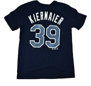 the best attitude 622cc b23d1 Details about Majestic MLB Youth Tampa Bay Rays Kevin Kiermaier Shirt Look M