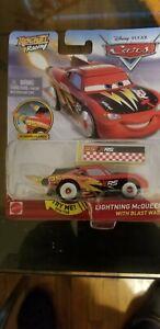 Disney Pixar Cars XRS Rocket Racing Lightning McQueen With Blast Wall CGP