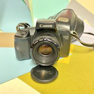 Canon-EOS-750-35mm-SLR-Filmkamera-mit-50mm-f1-8-Objektiv-amp-Tasche-Objektiv-Fungus-vorhanden