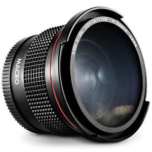 Altura-Photo-58MM-0-35x-Lente-Ojo-de-pescado-gran-Angular-Para-Camaras-DSLR-Canon