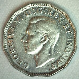 1946 Canada Nickel Five Cents Coin Almost Uncirculated 5c Canadian Coin Ebay