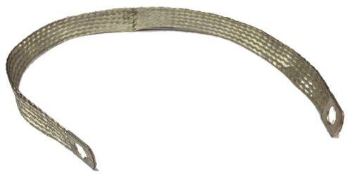 CARGO QUALITY BRAIDED EARTH STRAP 350mm X 15mm 10mm EYELETS 190230