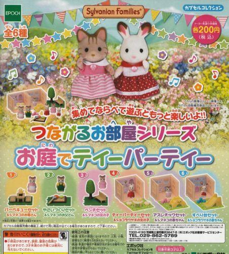 Epoch Sylvanian Families miniature garden party All 6 set Gashapon mascot toys