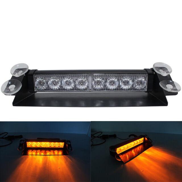 Solar Power LED Strobe Lamp Hazard Emergency Flashing Warning Beacon Light