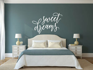 sweet dreams vinyl decal wall art decor sticker home decor