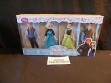 "ELSA+ANNA+KRISTOFF+HANS~MiNi 4~DoLL SeT~5/""~12.7cm~FROZEN~NWT~Disney Store"