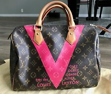 Pre-Loved Louis Vuitton Monogram V Speedy 30 Grenade Pink *Limited Edition*